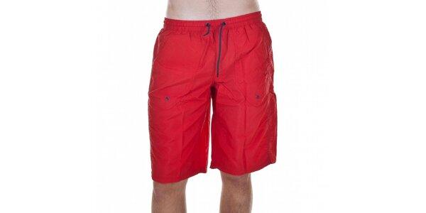 Pánske červené kúpacie šortky Emporio Armani