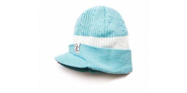 Dámska svetlo modrá čiapka Fundango sošiltom