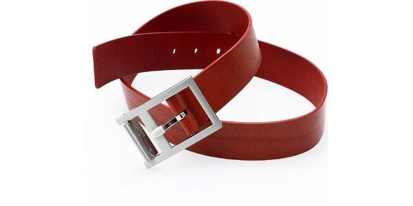 Dámsky hnedo-červený kožený opasok Emporio Armani