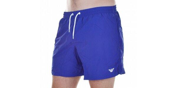 Pánske krátke fialové kúpacie šortky Emporio Armani