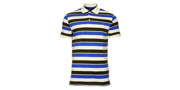 Pánske čierno-modré pruhované tričko Fundango