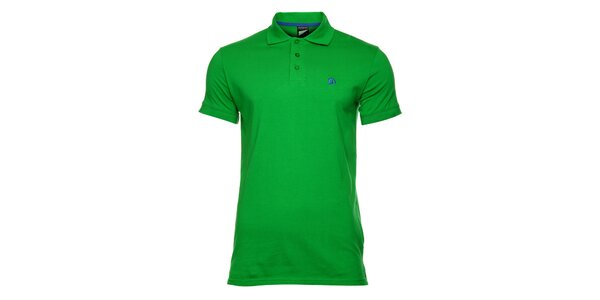 Pánske zelené bavlnené polo tričko s krátkym rukávom Fundango