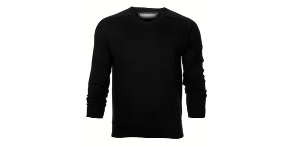 Pánsky čierny sveter Timeout