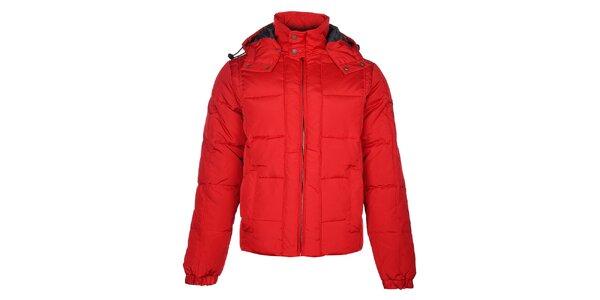 Pánska červená zimná bunda Timeout s kapucou