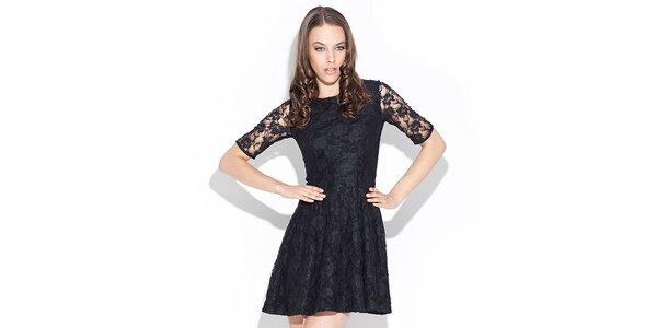 Dámske čierne čipkované šaty Katrus