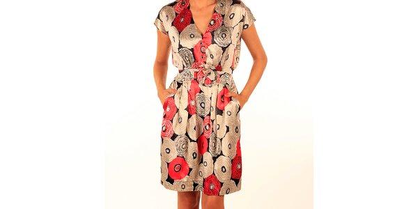 Dámske lesklé šaty s potlačou Privee