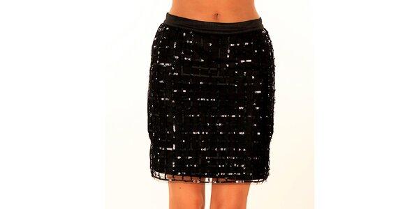 Dámska čierna sukňa s flitrami Privee