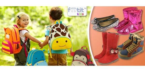 Zľava na voucher na detské topánky a batohy