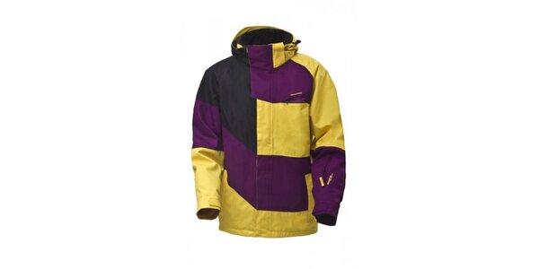 Pánska fialovo-žltá snowboardová bunda Envy