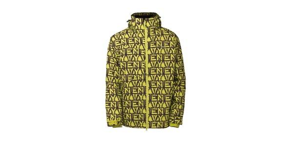 Pánska potlačená žltá bunda Envy