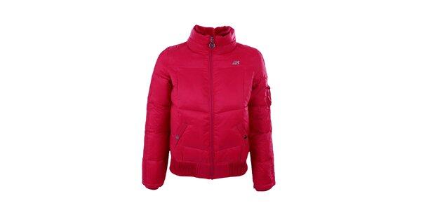 Dámska tmavo ružová zimná bunda New Balance