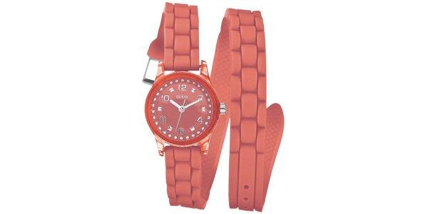 Dámske ružové analogové hodinky Guess