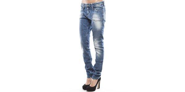 Dámske modré skinny džínsy s šisovaním Tommy Hilfiger
