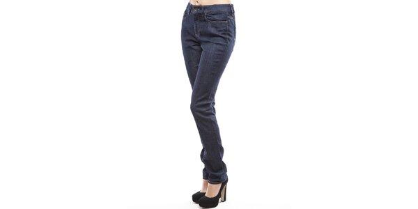 Dámske tmavo modré rovno strihané džínsy Tommy Hilfiger