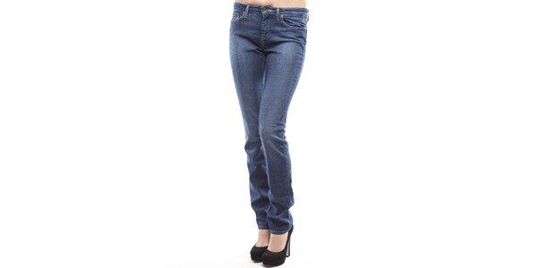 Dámske modré rovno strihané džínsy Tommy Hilfiger