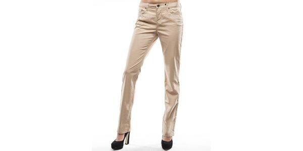 Dámske béžové rovné chino nohavice Tommy Hilfiger