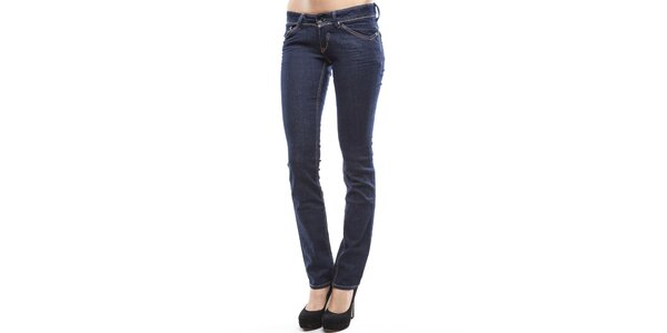 Dámske tmavo modré úzke džínsy Tommy Hilfiger