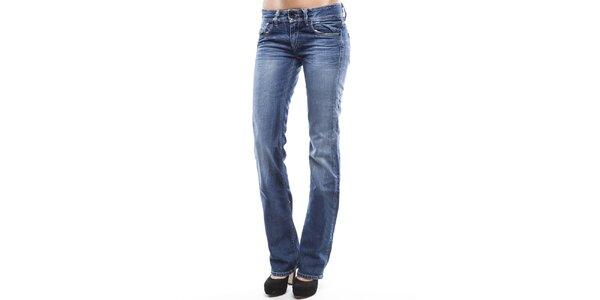 Dámske modré úzke rovné džínsy Tommy Hilfiger