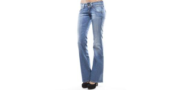 Dámske svetlo modré džínsy do zvonu Tommy Hilfiger