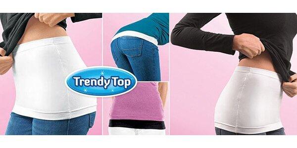 2ks elastického bedrového pásu Trendy top