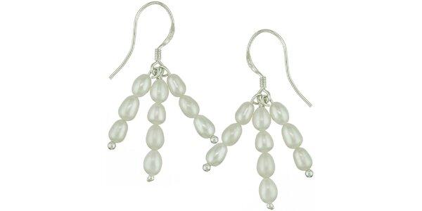 Dámske krémové perlové náušnice Orchira