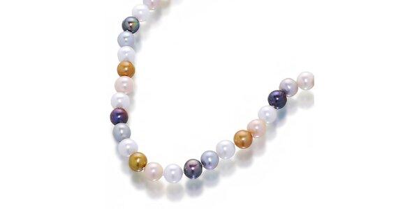 Dámsky náhrdelník z farebných perál Orchira