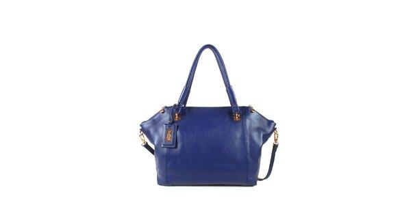 Dámska modrá kožená kabelka s odopínacím popruhom Joysens