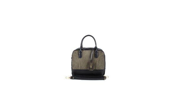 Dámska šedo-béžová kufríková kabelka Joysens