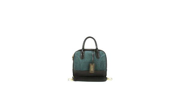 Dámska tmave zelená kufríková kabelka Joysens
