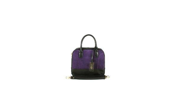 Dámska fialová kufríková kabelka Joysens