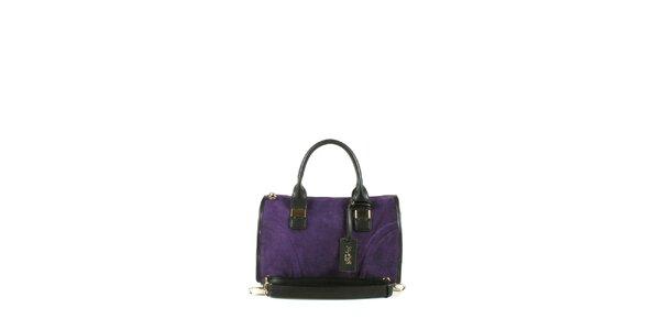 Dámska fialová kabelka s dvomi ušami Joysens