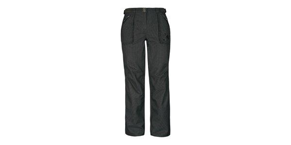 Dámske tmavo hnedé nohavice Husky