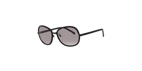 Čierne dámske slnečné okuliare Lacoste