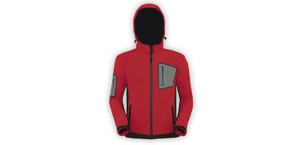 Pánska červená softshellová bunda Husky