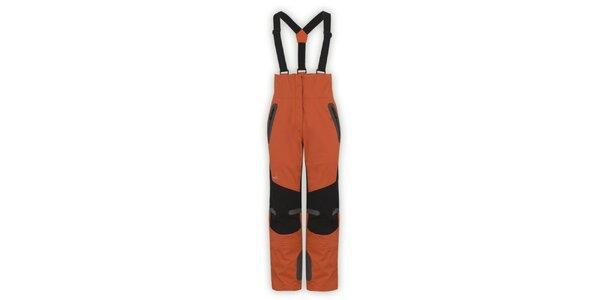 Dámske oranžové nepremokavé nohavice Husky