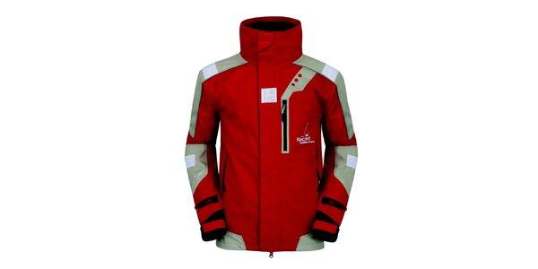 Pánska červeno-šedá funkčná bunda Husky