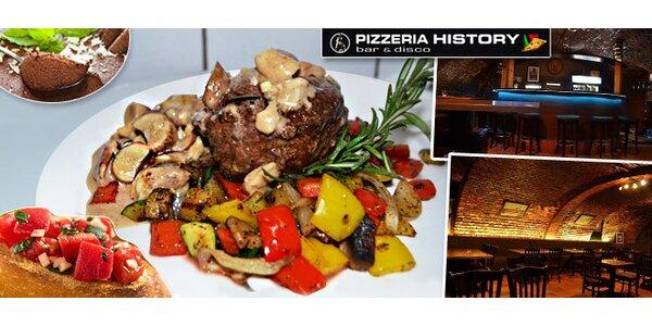 Hovädzí steak z pravej sviečkovice na 6 spôsobov, predjedlo a dezert