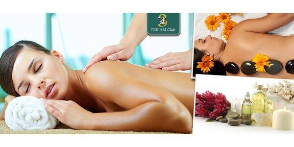 3 druhy masáží a bylinkový zábal