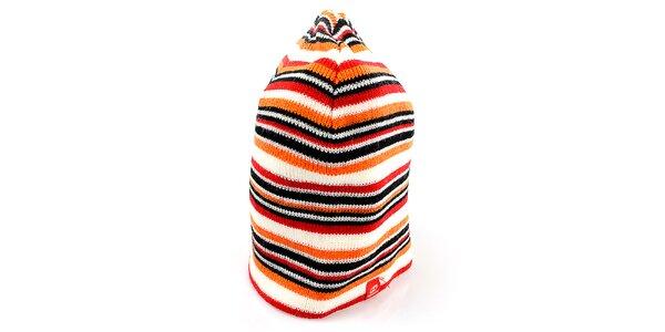 Dámska čiapka s oranžovo-čiernymi pruhmi Hannah