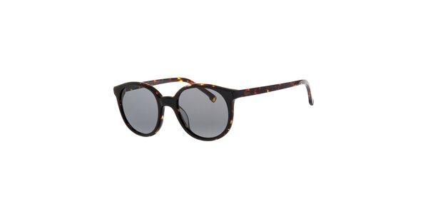 Dámske tmavo hnedé slnečné okuliare Lacoste