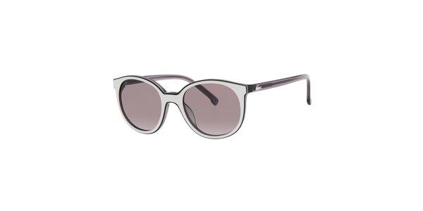 Dámske černo-biele slnečné okuliare Lacoste