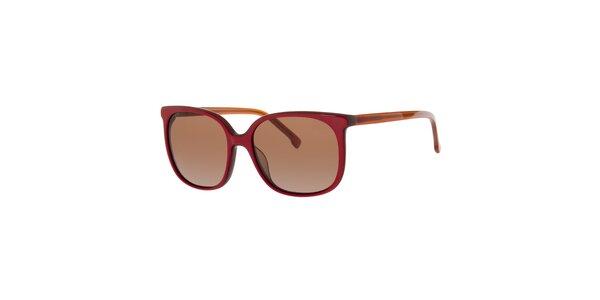 Dámske červené slnečné okuliare Lacoste