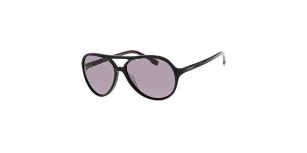 Dámske čierne slnečné okuliare Lacoste