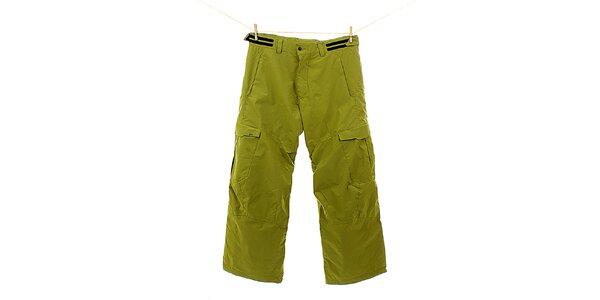 Pánske zelené snowboardové nohavice s prúžkom Hannah