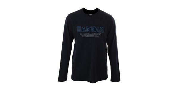 Pánske antracitové tričko s dlhými rukávmi Hannah