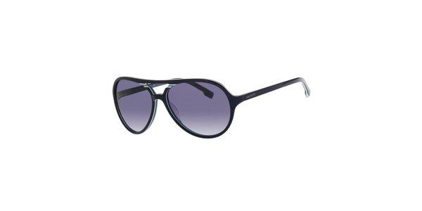Dámske tmavo modré slnečné okuliare Lacoste s bielym detailom 0e591296208