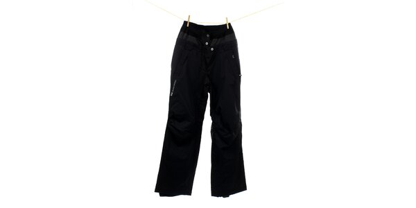 Dámske čierne zateplené lyžiarske nohavice Hannah