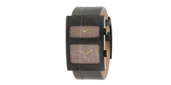 Pánske čierne analógové hodinky Puma
