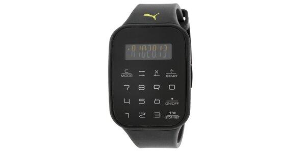 Pánske čierne digitálne hodinky Puma