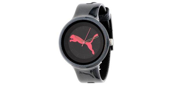 Dámske čierne metalické hodinky Puma